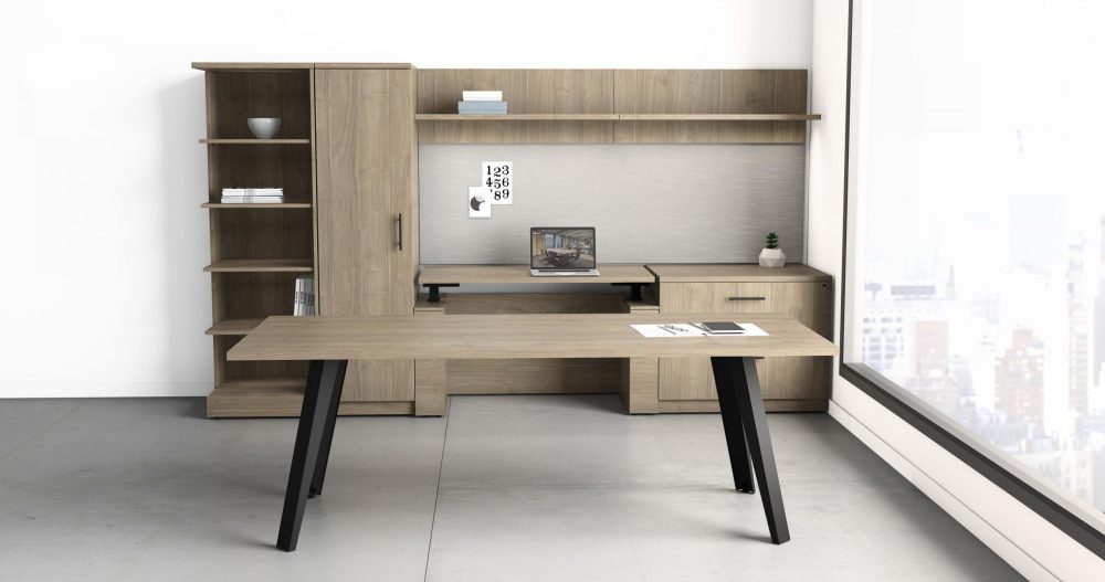 Deskmakers height adjustable desk